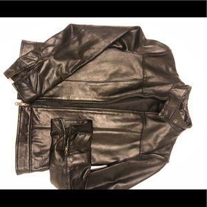 Le Chateau leather motorcycle style jacket